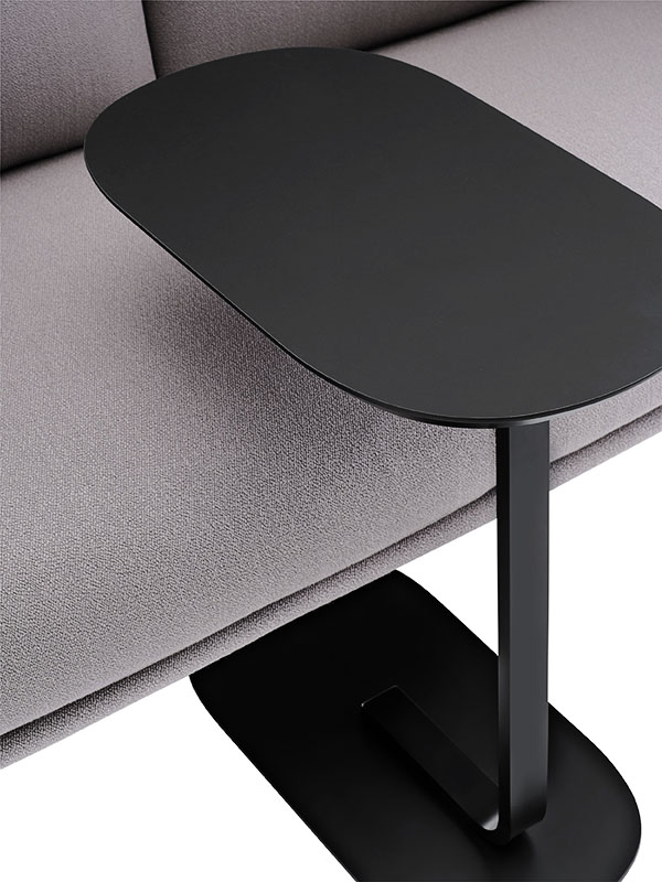 Présentation table d'appoint RELATE SIDE TABLE NOIR_13902 (2) muuto
