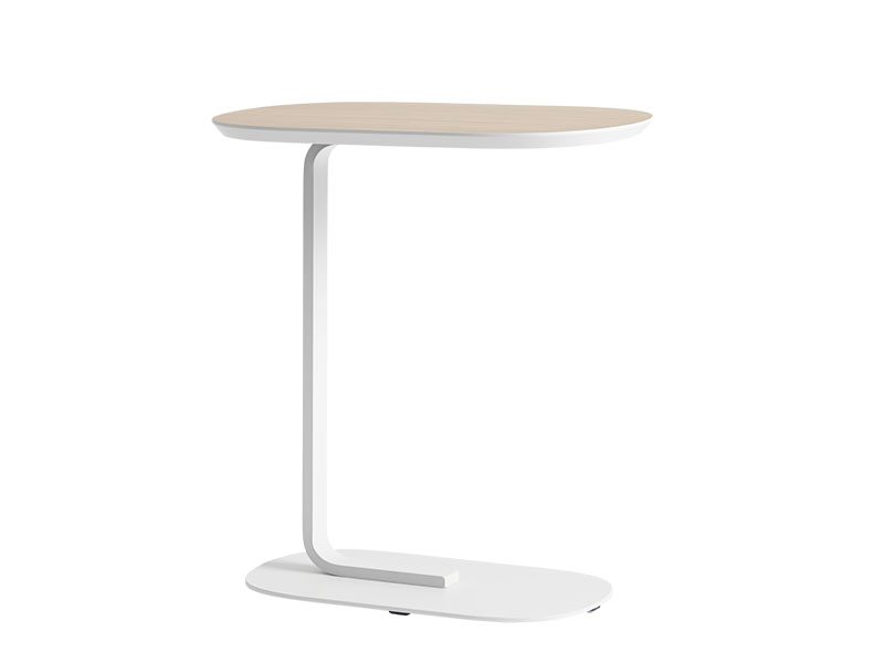 Table d'appoint RELATE SIDE TABLE CHÊNE VEINÉ ET BLANC ÉTEINT_13905 muuto