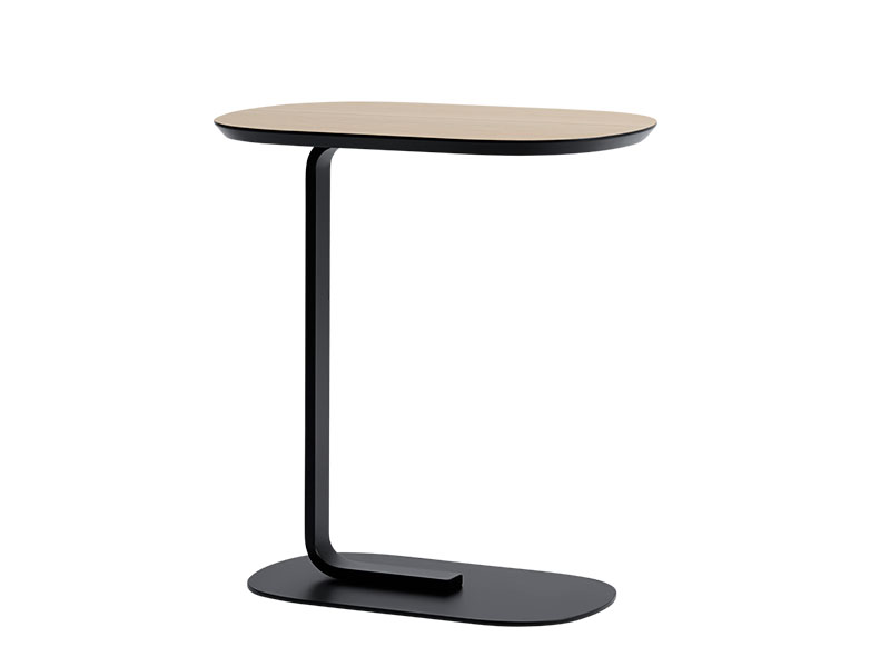 Table d'appoint RELATE SIDE TABLE CHÊNE VEINÉ ET NOIR_13904 muuto