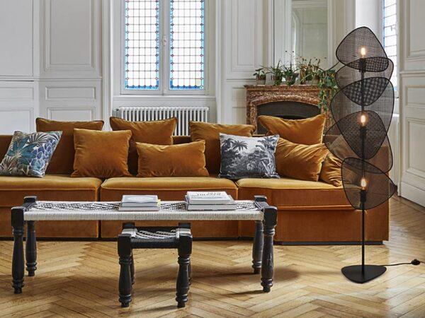 Ambiance lampadaire SCREEN COLORIS CANNAGE NOIR_655675 market set