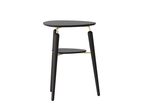 Table d'appoint MY SPOT CHÊNE TEINTÉ NOIR AVEC INSERT LAITON_5115 umage