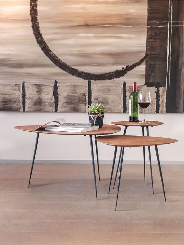 Ambiance bouts de canapé et table basse EFRAN casle line