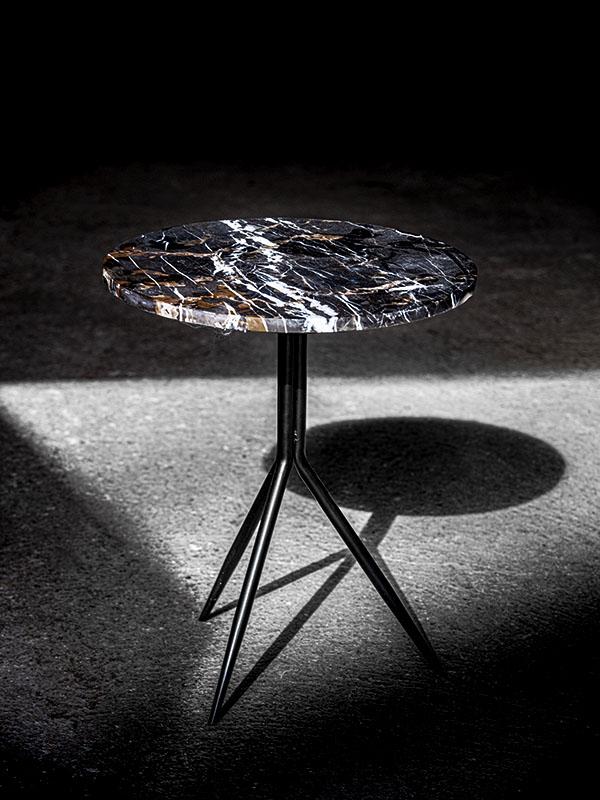 Ambiance table d'appoint en marbre et métal DANA BRUN_37491-BRO-10 (1) pomax