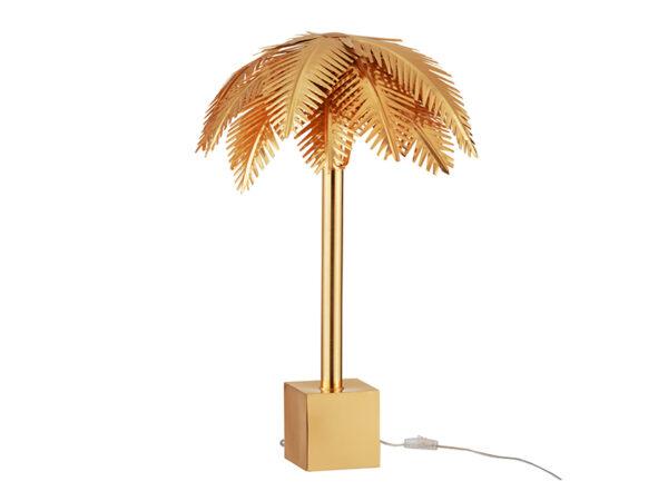 Lampe de table FEUILLES DE COCO ACIER OR (ÉTEINTE)_96492 jolipa