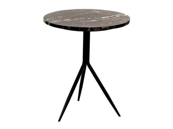 Table d'appoint en marbre et métal DANA BRUN_37491-BRO-10 pomax