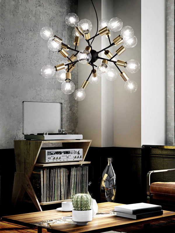 Ambiance suspension 24 lampes SPARK_238241 ideal lux