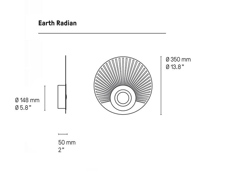 Cotations applique en laiton EARTH RADIAN Ø33 CM BRUNI & GRAPHITE cvl contract
