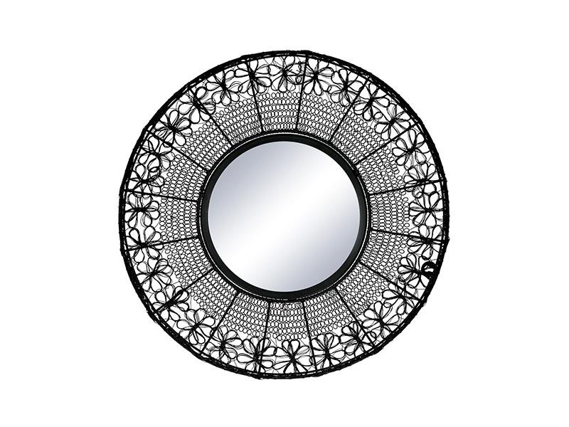 Miroir noir MAZE NOIR Ø 51 CM_37109-BLA-10 pomax home collection
