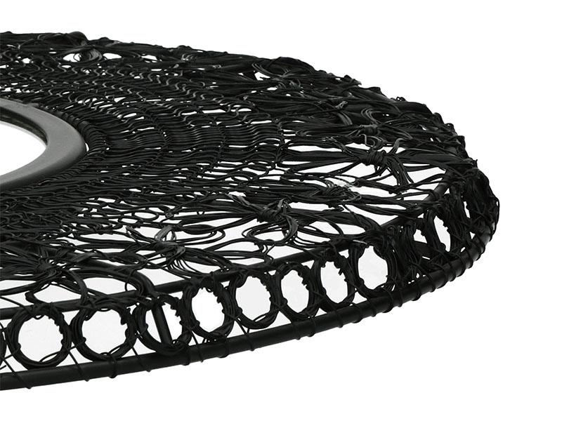 Miroir noir MAZE NOIR Ø 64 CM_37109-BLA-15 (VUE EN DÉTAIL 1) pomax home collection