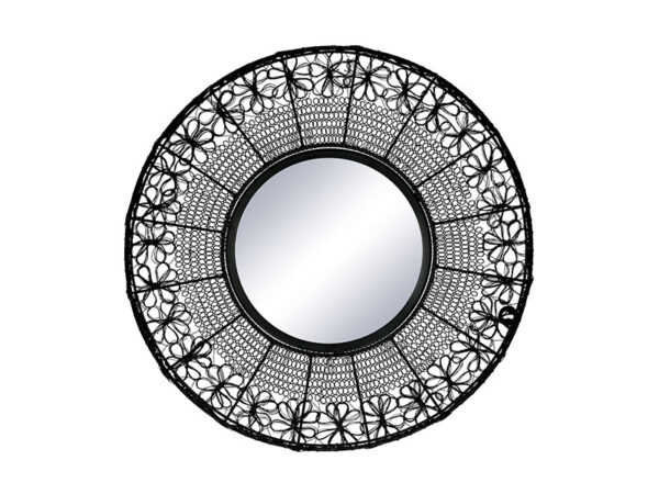 Miroir noir MAZE NOIR Ø 64 CM_37109-BLA-15 pomax home collection