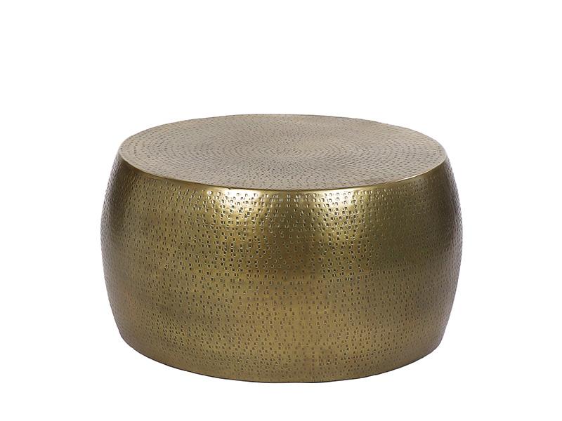 Table basse en métal perforé ESTHER DORÉ_38537-BRA-15 pomax home collection