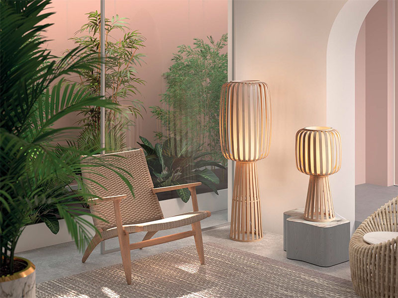 Ambiance lampadaire en bambou naturel CINTIA_5-8029-55-01 mdc essential