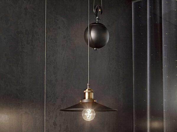 Ambiance suspension monte et baisse 1 lampe UP & DOWN SP1 (VUE EN DÉTAIL)_136332 ideal lux