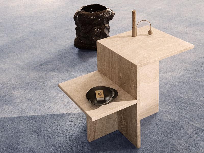 Ambiance table d'appoint en travertin DISTINCT_1005342762 (1) ferm living
