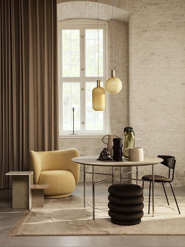 Ambiance table d'appoint en travertin DISTINCT_1005342762 (3) ferm living