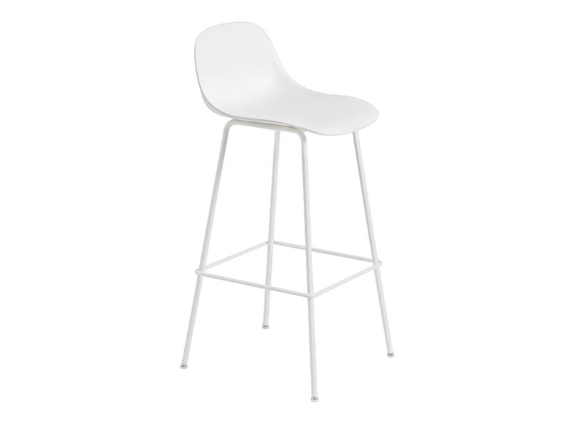 Chaise de bar FIBER BAR STOOL BLANC (HAUTEUR D'ASSISE 75 CM)_23714 muuto