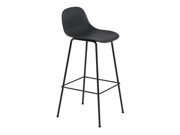 Chaise de bar FIBER BAR STOOL NOIR (HAUTEUR D'ASSISE 75 CM)_23710 muuto