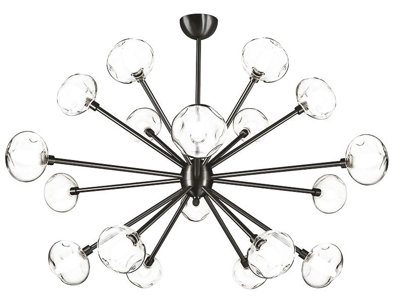 Lustre LAIKA 18 LAMPES FINITION GRAPHITE_LAIKA 18 GR cvl manufacture