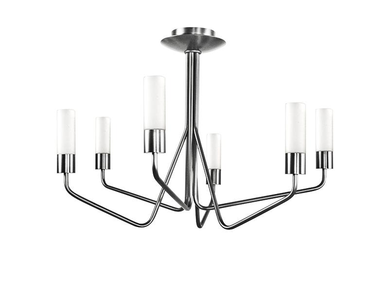 Lustre TESS 6 LAMPES FINITION NICKEL AVEC VERRES OPALES_TESS 6 NI TU10 cvl manufacture