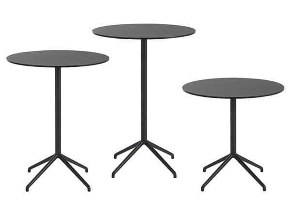 Présentation des table de café STILL CAFÉ TABLE NOIR muuto