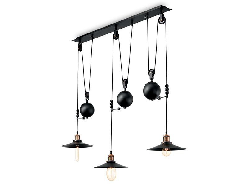 Suspension monte et baisse 3 lampes UP & DOWN SP3_136349 ideal lux