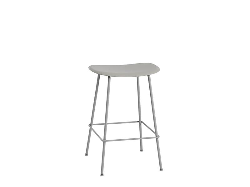 Tabouret de bar FIBER BAR STOOL GRIS (HAUTEUR D'ASSISE 65 CM)_23531 muuto