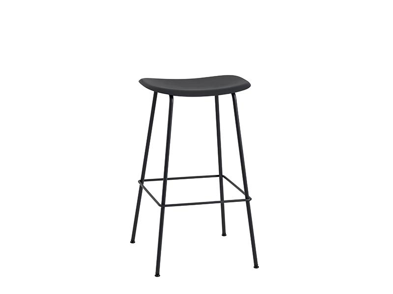 Tabouret de bar FIBER BAR STOOL NOIR (HAUTEUR D'ASSISE 75 CM)_23560 muuto