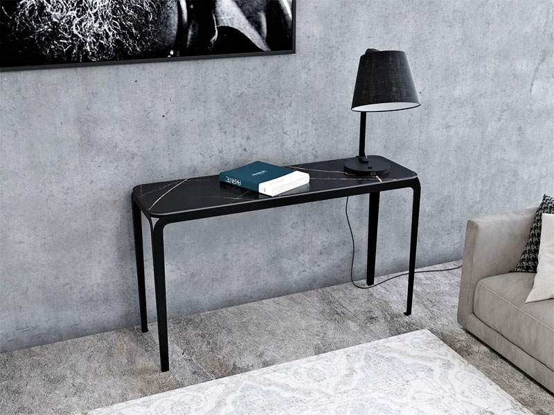 Ambiance console en marbre noir SUMATRA_ST800BM (1) akante