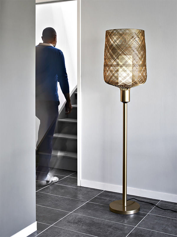 Ambiance lampadaire ANTENNA CHAMPAGNE_20024 (3700663911909) forestier paris
