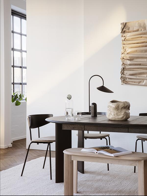 Ambiance lampe de table en marbre et métal ARUM TABLE LAMP BLACK_100134101_7 ferm living