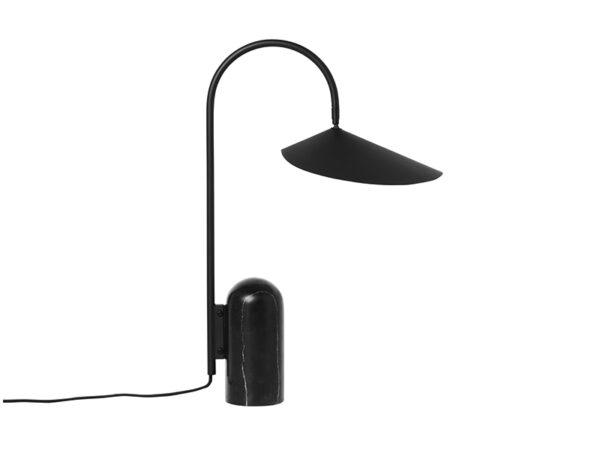 Lampe de table en marbre et métal ARUM TABLE LAMP BLACK_100134101 ferm living